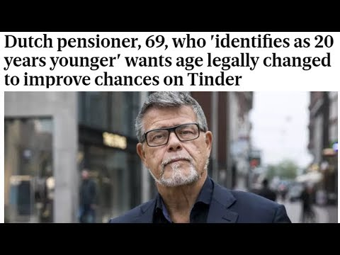 Trans-age Dutch man 69 starts LEGAL action to be 49! #EmileRatelband #transgender #transage