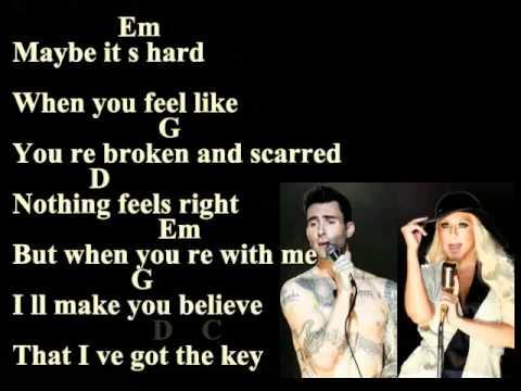 Maroon 5 Moves Like Jagger Lyrics And Chords Feat Christina