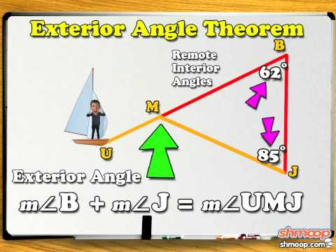 Exterior and remote interior angles by shmoop youtube - How to work out an exterior angle ...
