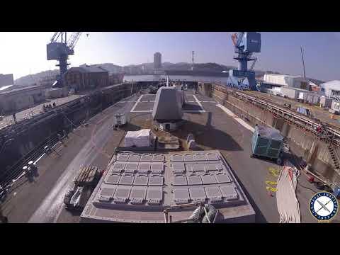 USS John S. McCain Leaves Dry Dock