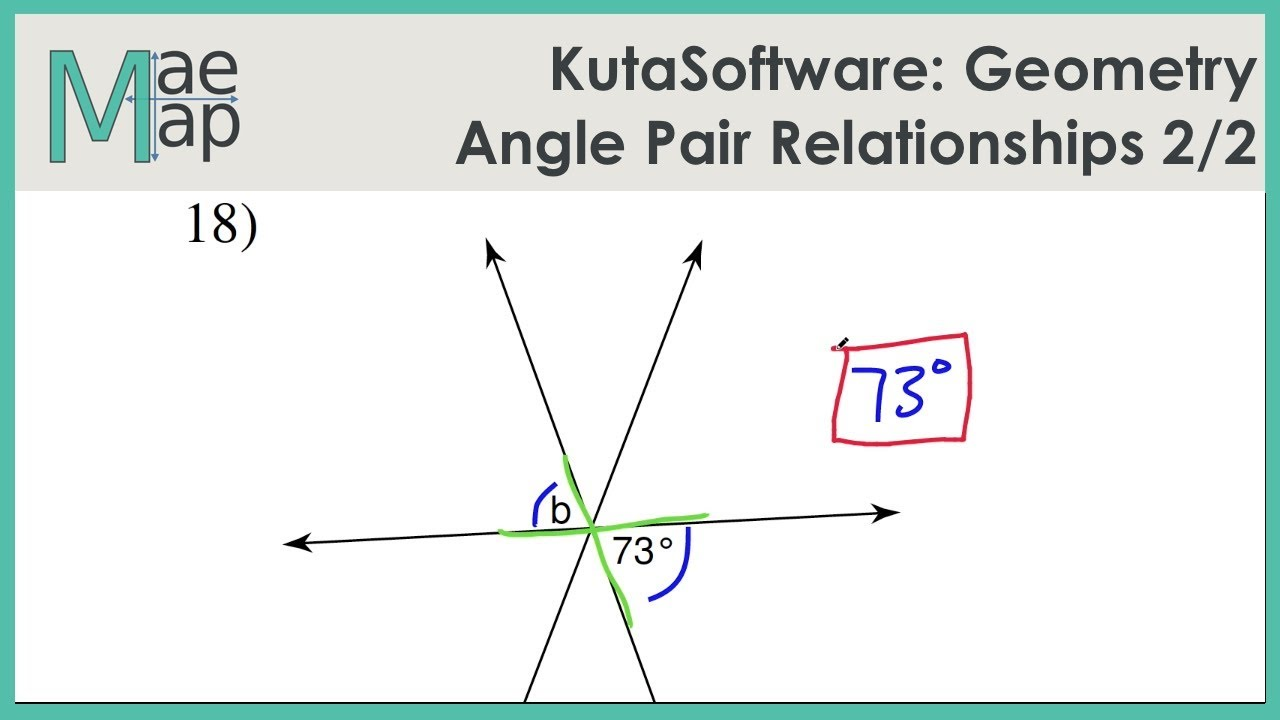Kutasoftware Geometry Angle Pair Relationships Part 2 Youtube