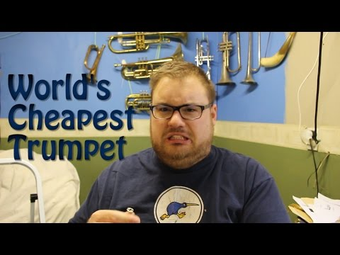 The World's Cheapest Trumpet | Unboxing and Review | Bach's Badinerie number 2