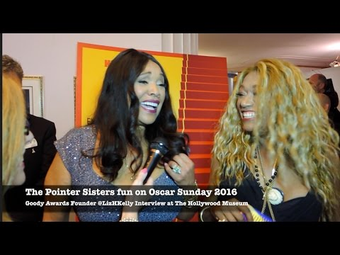Oscars 2016 Red Carpet with The Pointer Sisters Excited at The Hollywood Museum