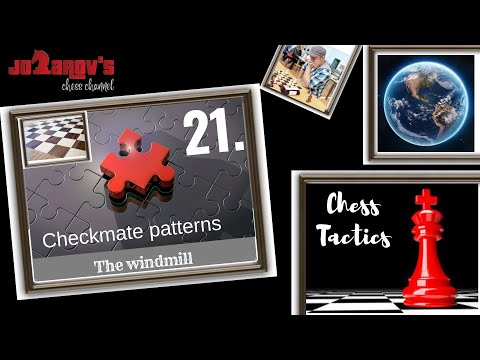 Checkmate patterns – The windmill  chess tactic