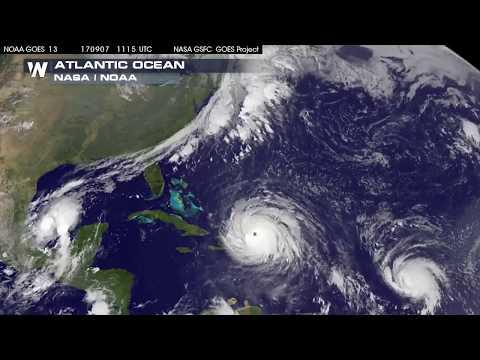 Satellite Imagery of Hurricane Irma, Jose and Katia