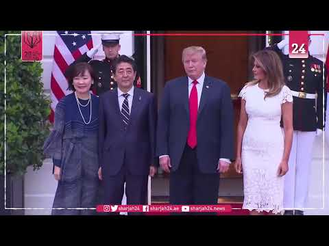 Donald Trump and Shinzo Abe meet at the White House