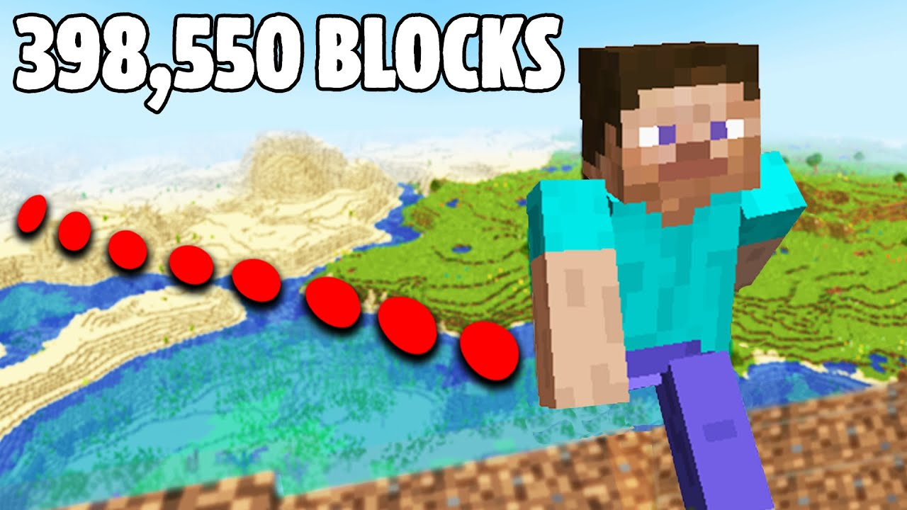 Walking Across an Entire Minecraft World in a Straight Line