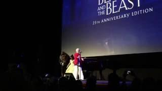 angela lansbury mrs potts singing beauty and beast at d23 fanniversary