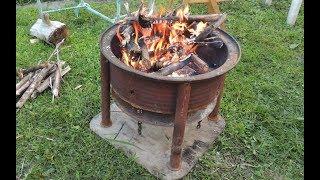 Уличный очаг для костра из металла. Outdoor fire pit metal