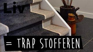 trap bekleding & trap stofferen. Bezoek Liv woonstoffering in Uden, tapijt, pvc vloer, vinyl!