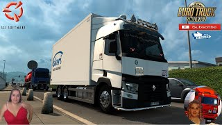 """Euro Truck Simulator 2 (1.38)   Renault Range T Rigid Chassis Addon by Kast v1.2.1 Dortmund Germany Animated gates in companies v3.7 [Schumi] Real Company Logo v1.0 [Schumi] Company addon v1.8 [Schumi] Motorcycle Traffic Pack by Jazzycat FMOD ON and Open Windows Naturalux Graphics and Weather Test Gameplay ITA Europe Reskin v1.0 + DLC's & Mods https://forum.scssoft.com/viewtopic.php?f=35&t=277717  SCS Software News Iberian Peninsula Spain and Portugal Map DLC Planner...2020 https://www.youtube.com/watch?v=NtKeP0c8W5s Euro Truck Simulator 2 Iveco S-Way 2020 https://www.youtube.com/watch?v=980Xdbz-cms&t=56s Euro Truck Simulator 2 MAN TGX 2020 v0.5 by HBB Store https://www.youtube.com/watch?v=HTd79w_JN4E  #TruckAtHome #covid19italia Euro Truck Simulator 2    Road to the Black Sea (DLC)    Beyond the Baltic Sea (DLC)   Vive la France (DLC)    Scandinavia (DLC)    Bella Italia (DLC)   Special Transport (DLC)   Cargo Bundle (DLC)   Vive la France (DLC)    Bella Italia (DLC)    Baltic Sea (DLC) Iberia (DLC)   American Truck Simulator New Mexico (DLC) Oregon (DLC) Washington (DLC) Utah (DLC) Idaho (DLC) Colorado (DLC)     I love you my friends Sexy truck driver test and gameplay ITA  Support me please thanks Support me economically at the mail vanelli.isabella@gmail.com  Roadhunter Trailers Heavy Cargo  http://roadhunter-z3d.de.tl/ SCS Software Merchandise E-Shop https://eshop.scssoft.com/  Euro Truck Simulator 2 http://store.steampowered.com/app/227... SCS software blog  http://blog.scssoft.com/  Specifiche hardware del mio PC: Intel I5 6600k 3,5ghz Dissipatore Cooler Master RR-TX3E  32GB DDR4 Memoria Kingston hyperX Fury MSI GeForce GTX 1660 ARMOR OC 6GB GDDR5 Asus Maximus VIII Ranger Gaming Cooler master Gx750 SanDisk SSD PLUS 240GB  HDD WD Blue 3.5"""" 64mb SATA III 1TB Corsair Mid Tower Atx Carbide Spec-03 Xbox 360 Controller Windows 10 pro 64bit"""