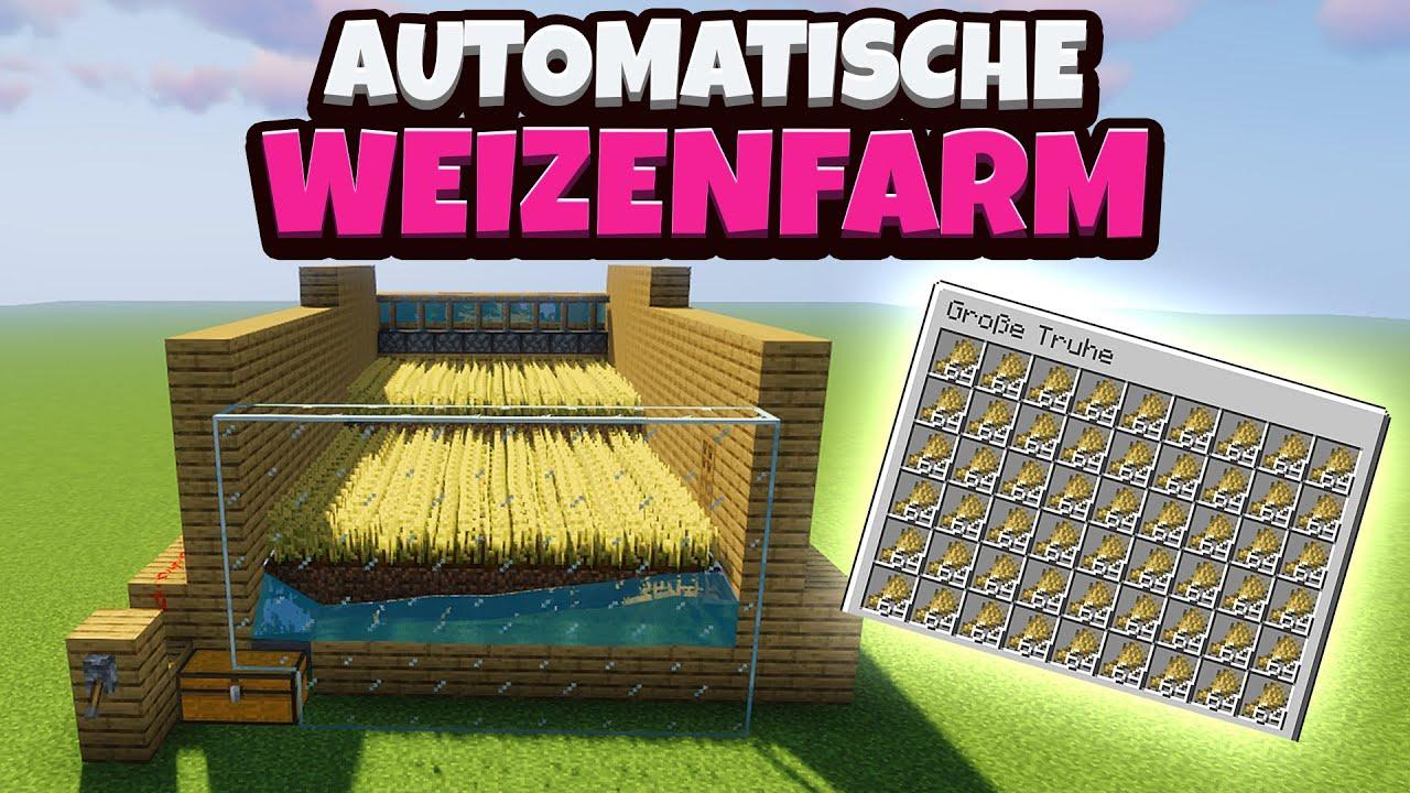 Download Minecraft - Automatische Weizenfarm bauen (einfach & effizient) | 1.16 [Deutsch / German]