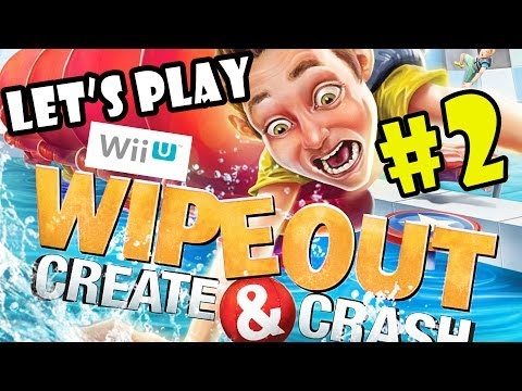 Let's Play Wipeout: Create and Crash pt.2 - Wipeouts Ahoy - WiiU Co-Op Gameplay