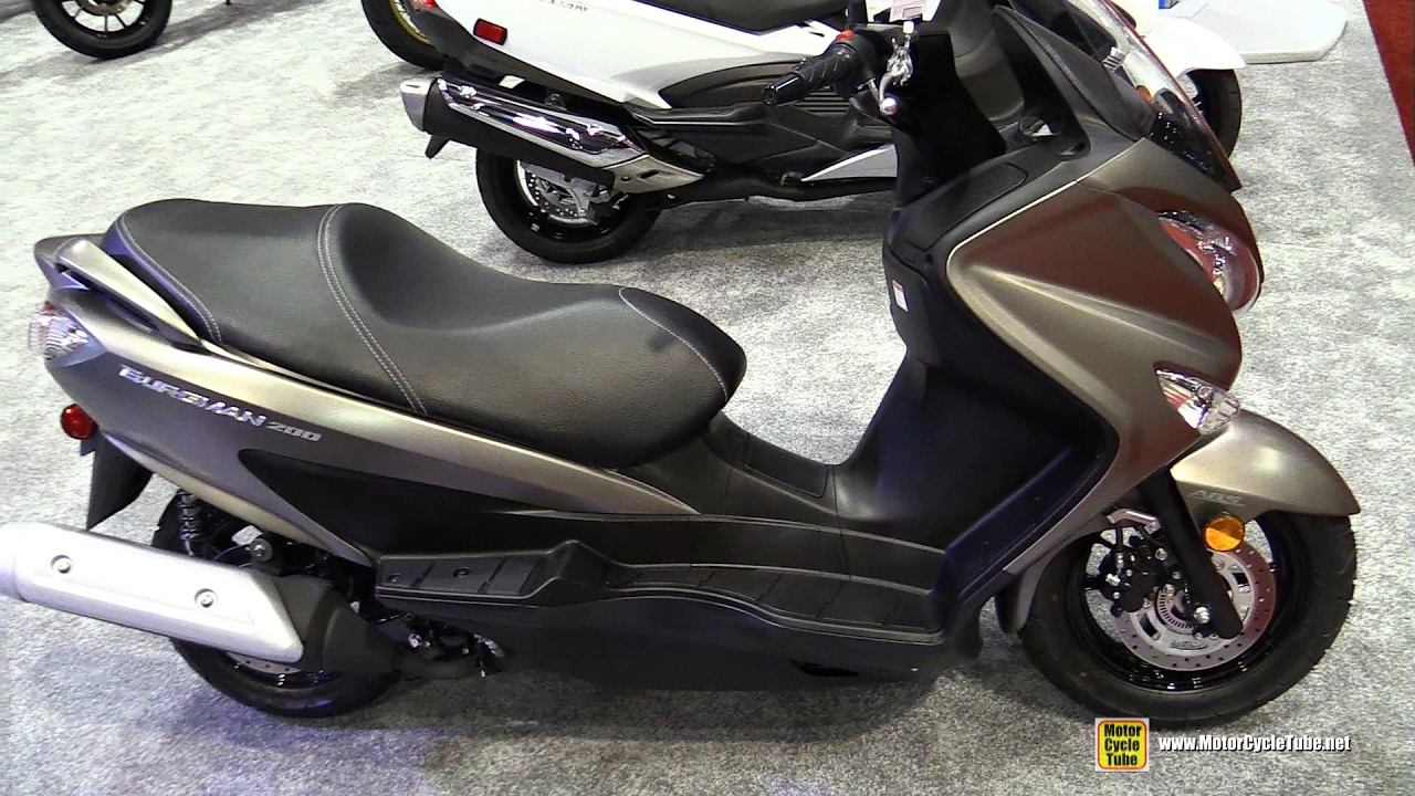 2017 suzuki burgman 200 scooter walkaround 2016. Black Bedroom Furniture Sets. Home Design Ideas