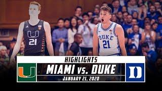 Miami vs. No. 8 Duke Basketball Highlights (2019-20) | Stadium
