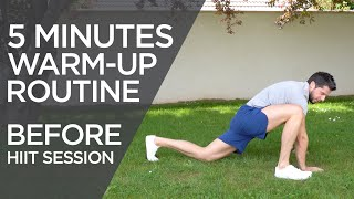 5 Minute Warm-up Routine Before HIIT Session | Home Workout