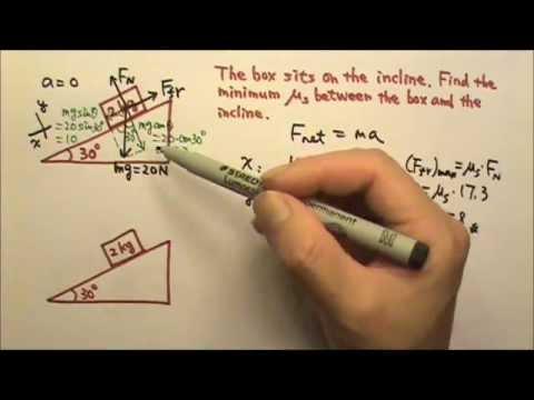 Physics problem: friction on a slope?