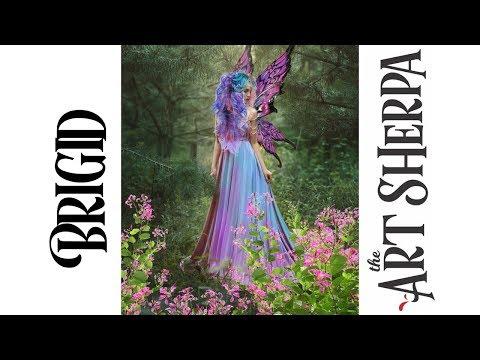 Brigid Spring Queen Fairy Acrylic Painting tutorial BAQ #1