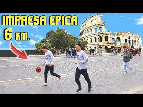 PALLEGGIAMO per Tutta ROMA senza MAI PERDERE il PALLONE !!