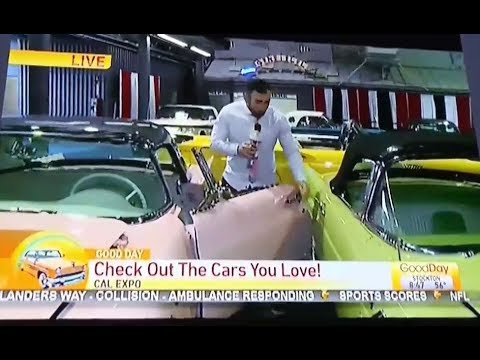 The Wake Up Show - Clown Of The Sound: News Reporter Damages Old Model Cars On Live TV...