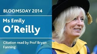UCD Honorary Degree of Doctor of Laws for Emily O