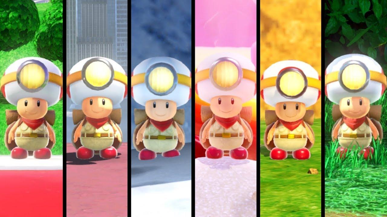 Super Mario Odyssey All Captain Toad Locations All Kingdoms