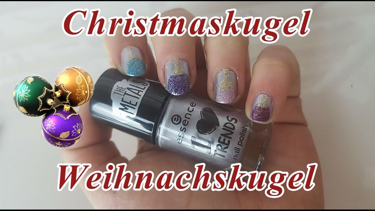 Christbaumkugeln | Weihnachtskugeln Nageldesign | Einfaches ...