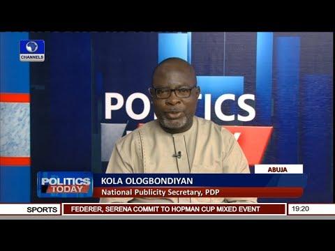 PDP Set To Conduct Free & Fair Presidential Primary - Kola Ologbondiyan | Politics Today  |