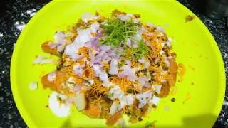 Samosa chaat recipe - street food samosa chat