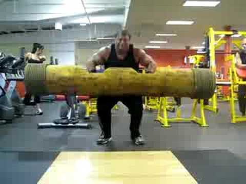 Derek Poundstone 310lb real log press for 11 Reps
