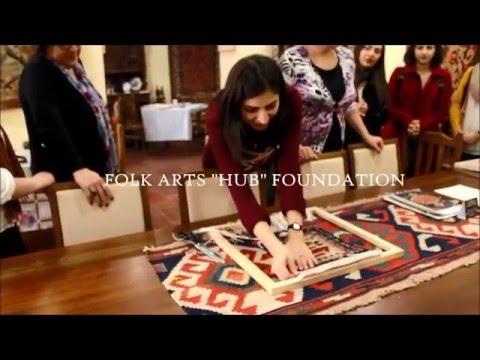 Weaving Armenian Carpet By Folk Arts