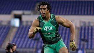 Vic Beasley (Clemson, DE) | 2015 NFL Scouting Combine Highlights
