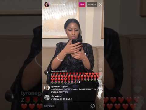 Nicki Minaj INSTAGRAM LIVE 2017