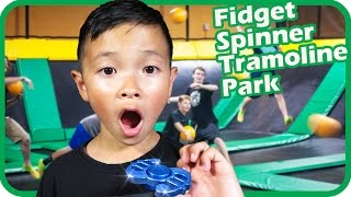 Kids with New FIDGET SPINNER Goes To Indoor Trampoline Park – TigerBox HD