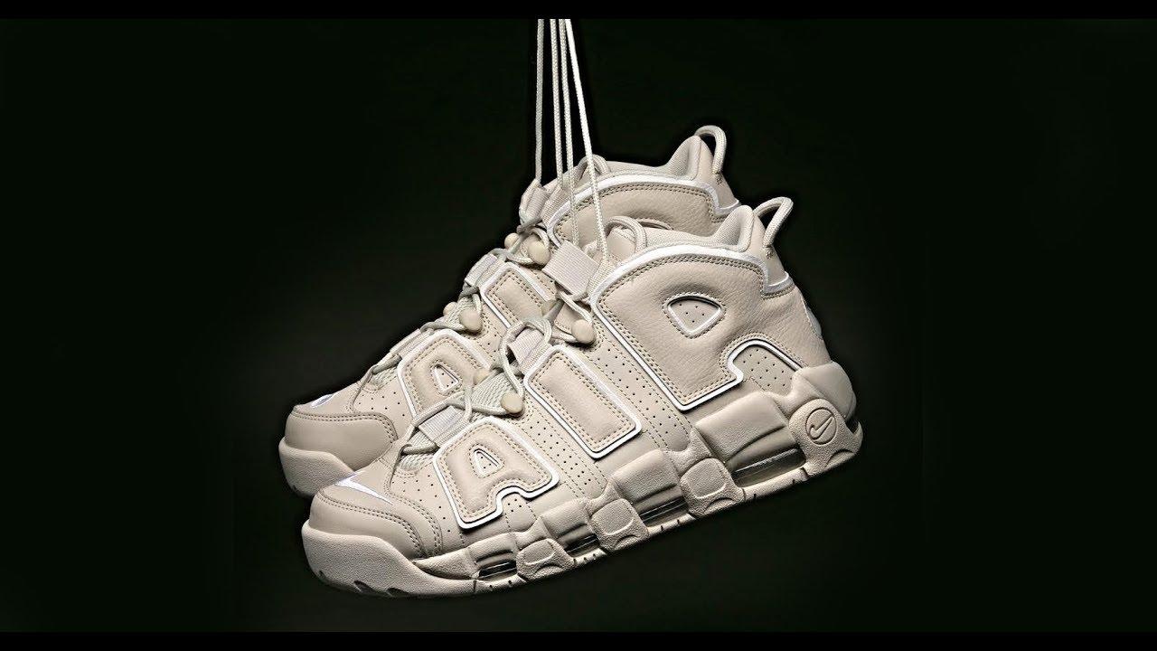 41eaeefb03 FIRST LOOK: Nike Air More Uptempo '96 ' Light Bone'   SHIEKH - YouTube