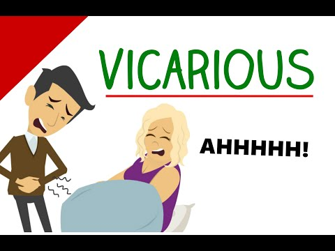 Learn English Words - Vicarious (Vocabulary With Pictures)