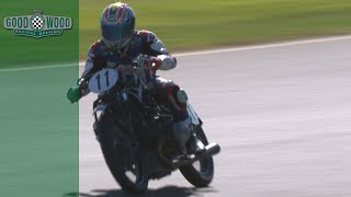 Troy Corser's incredible riding style on 89-year-old bike