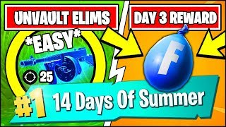 ELIMINATIONS WITH THE DAILY UNVAULTED WEAPON OR DRUMGUN *EASY* (Fortnite 14 Days Of Summer REWARDS)
