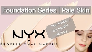 NYX stay matte not flat: ivory | Foundation series for pale skin