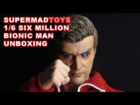 Supermad Toys The Six Million Bionic Man 1/6 Figure Unboxing
