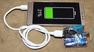 AA Pil 1.5 Volt ile Acil durum Güç Banka Yapmak İçin nasıl. Herhangi Bir Akıllı Telefon Şarj