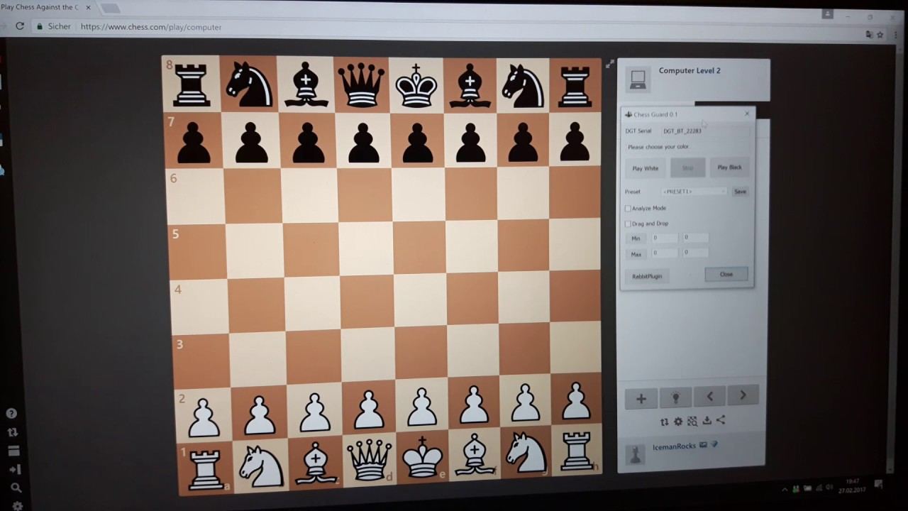 ChessGuard Setup for DGT board and chess com