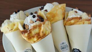 チョコバナナクレープ|MINOSUKE SWEETSさんのレシピ書き起こし