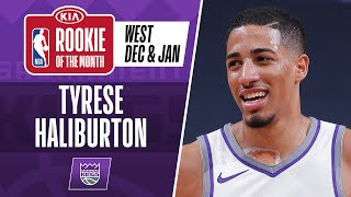 Tyrese Haliburton Earns #KiaROTM For December & January | Western Conference