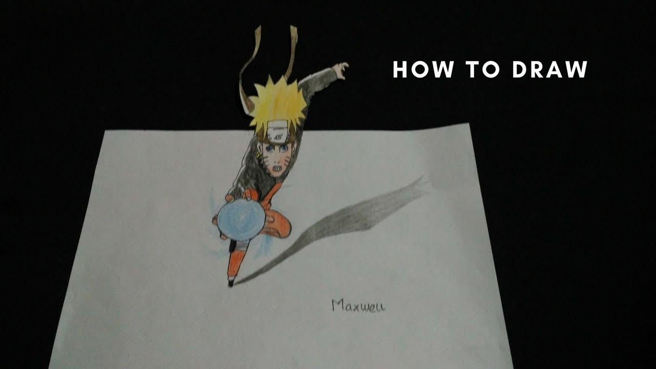 Cara menggambar naruto 3d
