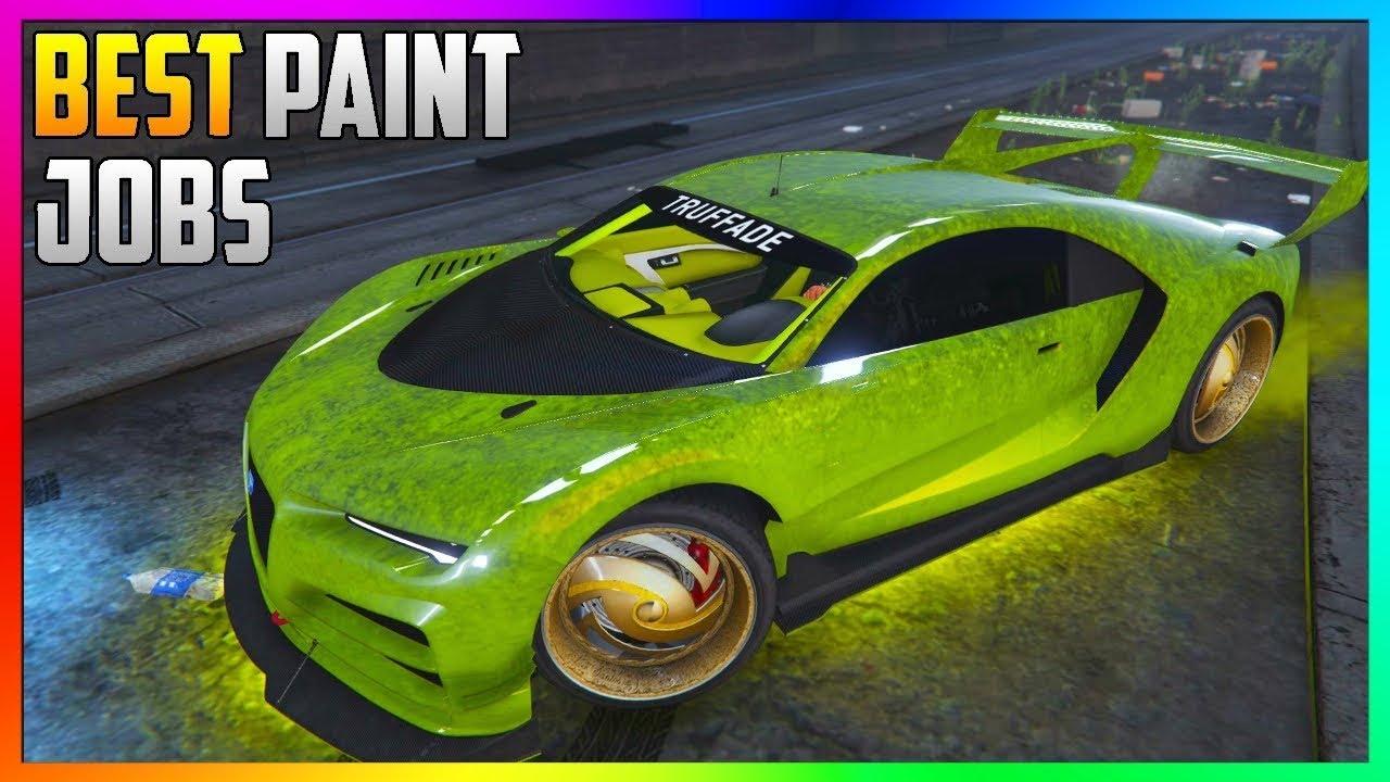 Gta 5 Online Top 3 Best Rare Paint Jobs Sexy Crew Car Color Schemes Gta 5 Paint Jobs