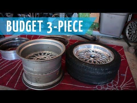 Budget 3 Piece BBS Wheels Build | Part 1: Splitting The 2 Piece Style 5s