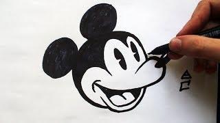 Como Desenhar o Mickey Mouse [Disney/1934] - (How to Draw Mickey) - SLAY DESENHOS