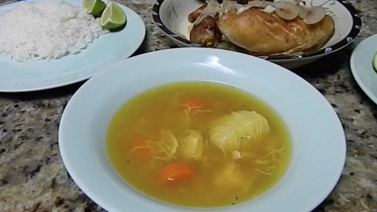 Sopa De Pollo Cubana Cuban Chicken Noodle Soup Easy And Delicious Recipe Youtube