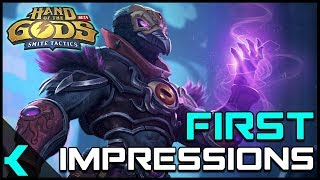 hand of the Gods (Smite Tactics)  First Impressions  A Great Card Game